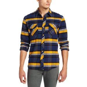 Volcom Dermot Plaid Flannel Shirt Size Medium